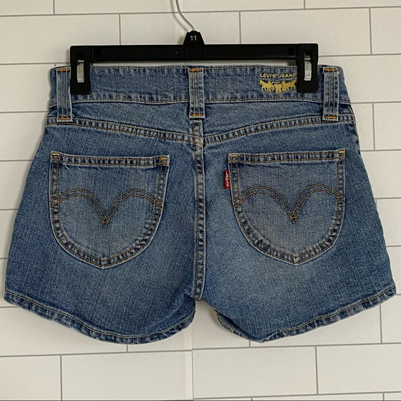 Levi's 504 Slouch Jean Shorts Size 5 Distressed